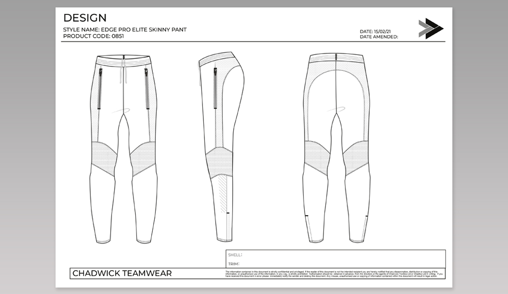 Hybrid Skinny Pant Drawings